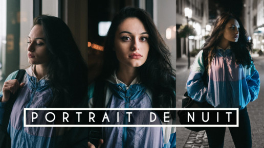 Portrait nuit shooting photo